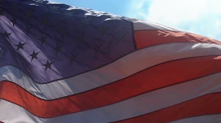 veterano : American flag in slow motion