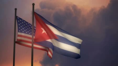 American and Cuban Flags with ALPHA channel