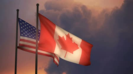 Észak amerika : American and Canadian Flags with ALPHA channel