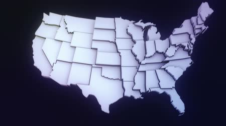 Animated USA map with ALPHA matte Vídeos
