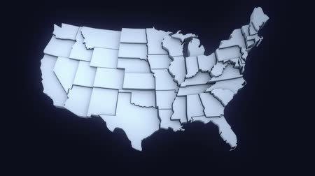 United States Map Animation with Alpha Channel