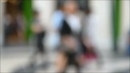 unrecognizable people : Defocused Walking People