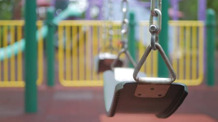 dangle : Empty Childrens swing in the playground