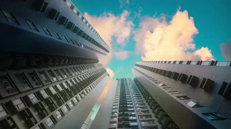 Skyscraper Buildings and Sky View Stok Video