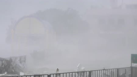 gust of wind : HONG KONG - SEP 16, 2018: Hurricane Typhoon Mangkhut in Hong Kong