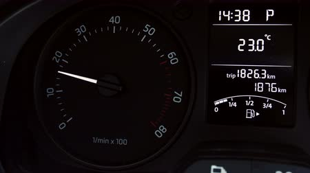 rpm : Car instrument panel, showing rpm and high speed acceleration 4K Stock Footage