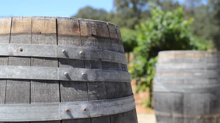 abroncs : Wine Barrels in a Vineyard