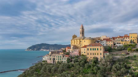 Лигурия : Cervo - medieval hilltop town in Liguria, Italy (time lapse video)
