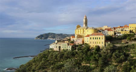 Cervo - medieval hilltop town in Liguria, Italy (zoom in view)