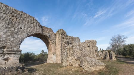 Barbegal aqueduct near Arles, France (time lapse video)