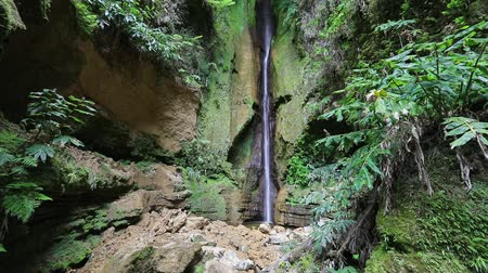 Salto do Rosal waterfall located close to Furnas lake (Lagoa das Furnas), Sao Miguel island, Azores, Portugal