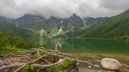 lesser : Clouds over Morskie Oko lake in Tatra Mountains, Poland (time lapse video)