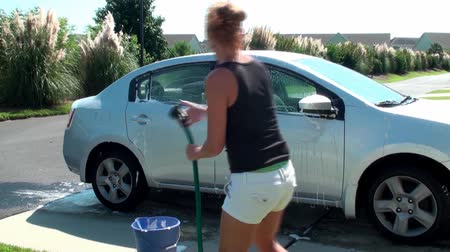 gąbka : Washing and rinsing the car