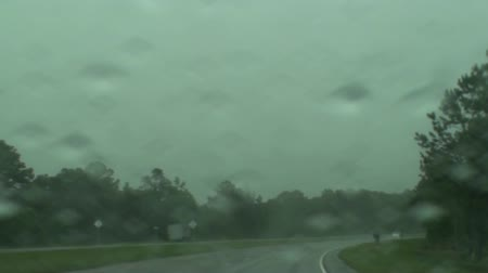 бисер : Rain On The Windshield While Driving On The Road