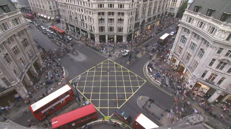london england : Oxford Circus, London. Time lapse