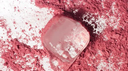corar : melting cube of ice onn pink makeup powder Makeup texture macro