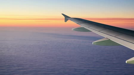 hava otobüsü : Airplane Wing above the Clouds