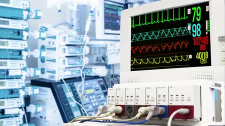 vital signs : Cardiac monitor in ICU