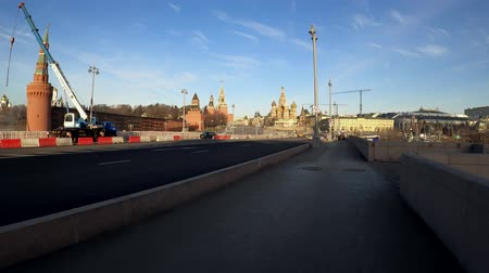 MOSCOW, RUSSIA - NOVEMBER 23, 2019: Saint Basil cathedral, hyperlapse.
