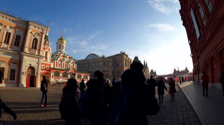 MOSCOW, RUSSIA - NOVEMBER 23, 2019: Red square time lapse, hyperlapse, 4K footage.
