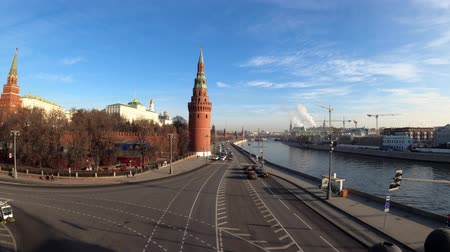 greater : MOSCOW, RUSSIA - NOVEMBER 23, 2019: Kremlin, view from the Greater Stone Bridge.