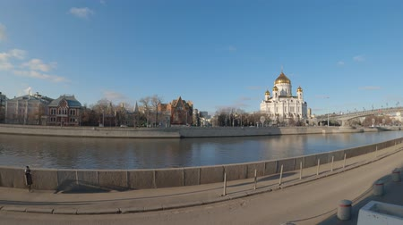 MOSCOW, RUSSIA - DECEMBER 1, 2019: Hyperlapse of Cathedral of Christ the Saviour, plain video, ready for editing. 動画素材