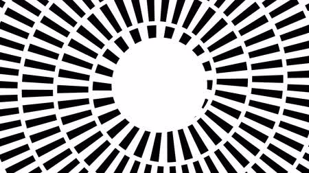 hallucination : Seamless footage with rotating dashed hypnotic spiral. Loop animated background sequence with rotating circle segments