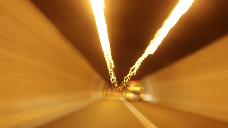 hostility : light frenzy tunnel Stock Footage