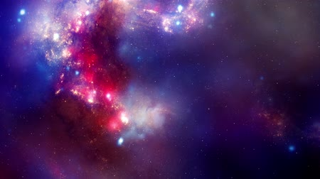 gömbölyű : pink purple and blue sky in space Stock mozgókép