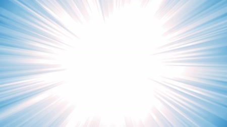 sun beam : Blue Starburst Background Animation Animation of a design and flashy blue star burst background, with thin sun and light beams