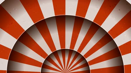 Animation Of Vintage Abstract Circus Background Seamless looped animation of a vintage abstract circus background rotation, with shadow circles, sunbeams and soft grunge texture