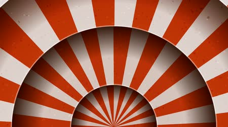 Vintage Abstract Circus Background Rotation Seamless looped animation of a vintage abstract circus background rotation, with shadow circles, sunbeams and soft grunge texture Wideo
