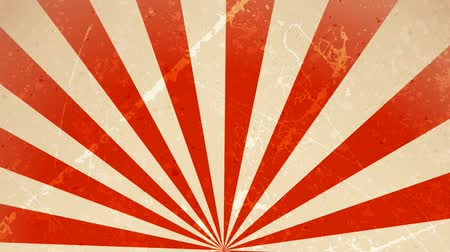 régi : Circus carnival Background Rotation Loop Animation of an abstract vintage and retro circus background rotating, with sunbeams an stripes