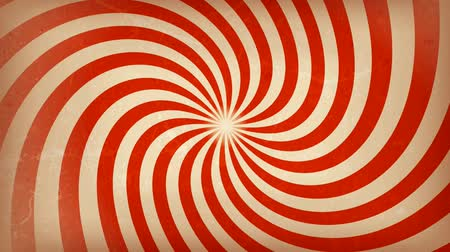 Circus carnival Spiral Background Rotation Animation of a vintage and retro hypnotic circus spiral background rotating, with grunge texture