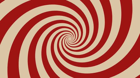 Hypnotic Spiral Background Rotating Animation of a vintage and retro hypnotic red spiral background rotating