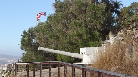Gibraltar, United Kingdom, 3rd October 2018:- The Devil's Gap Battery on the West side of the Rock of Gibraltar. Gibraltar is a British Overseas Territory located on the southern tip of Spain.