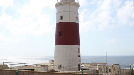 iberian : Gibraltar, United Kingdom, 2nd October 2018:-Trinity House, Lighthouse, Europa Point, Gibraltar. Gibraltar is a British Overseas Territory located on the southern tip of Spain.