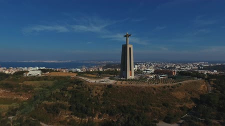 east timor : The Cristo Rei Statue of Lisbon seen from above
