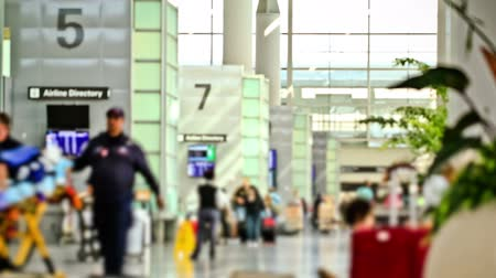 time machine : v4. Airport travelers time lapse using a photo effect. Stock Footage