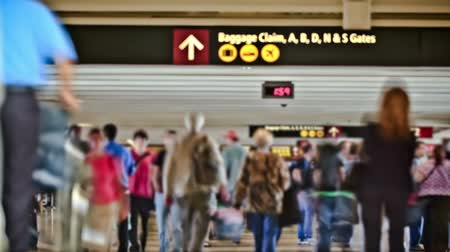 time machine : v9. Airport travelers time lapse using a photo effect.