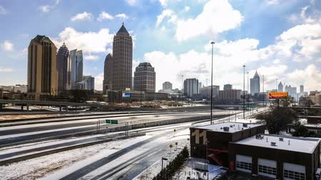 ga : v8. Atlanta cityscape time lapse after rare snow storm on February 13th 2014.