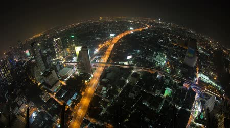 ingázó : v6. Beautiful cityscape time lapse of Bangkok using fisheye lens.
