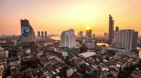 bilboard : v12. Bangkok cityscape time lapse during beautiful sunset on February 6th 2014