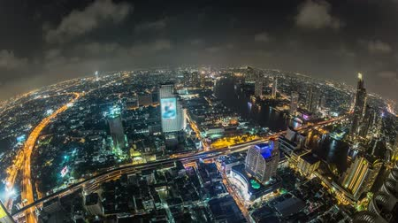 beautiful view : v18. Bangkok cityscape time lapse at night.