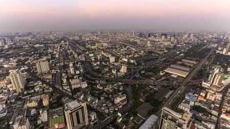tajlandia : v20. Bangkok cityscape time lapse at dusk. Wideo