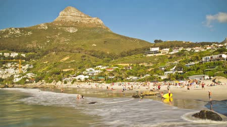 kasaba : v46. Beach time lapse clip of Clifton Beach near Cape Town in South Africa.