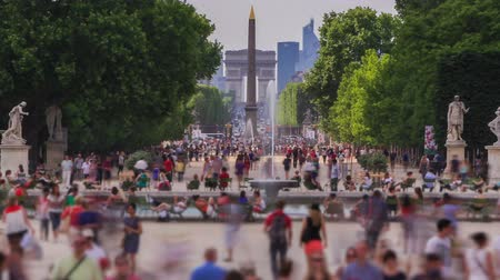 europa : v58. Zooming pedestrian traffic time lapse in Paris. Wideo