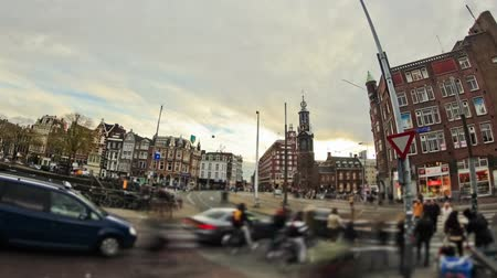 amsterodam : v63. City traffic time lapse of Amsterdam streets.