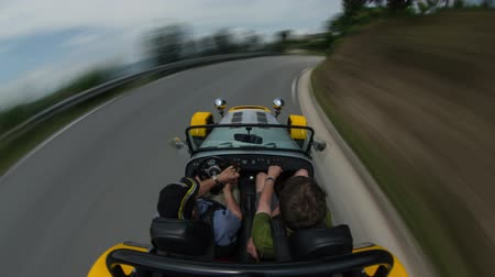 ingázó : v69. Driving time lapse with above POV view in south of France.