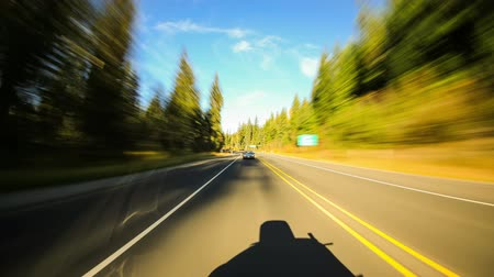 manzaraları : v73. Driving time lapse through Oregon Cascades area.